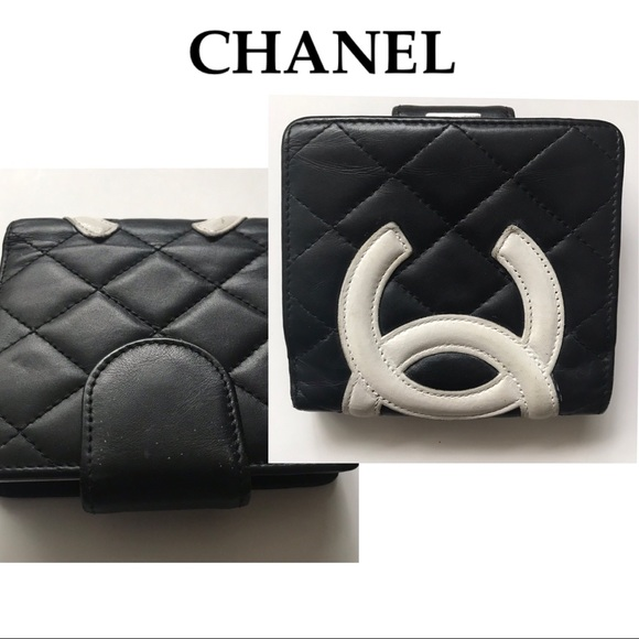 b4495c357096 CHANEL Bags | Cambon Quilted Leather Compact Wallet | Poshmark
